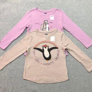2 New Long sleeve shirts girls 3T